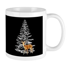 Deer by Snowy Tree Small Mug