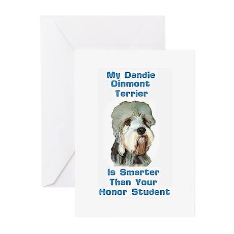 Smart Dandie Dinmont Greeting Cards (Pk of 10)