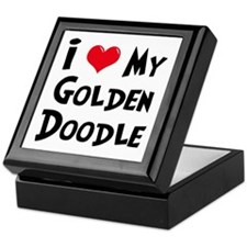 I Love My Golden Doodle Keepsake Box