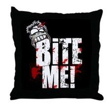 Bite Me! Zombie Throw Pillow