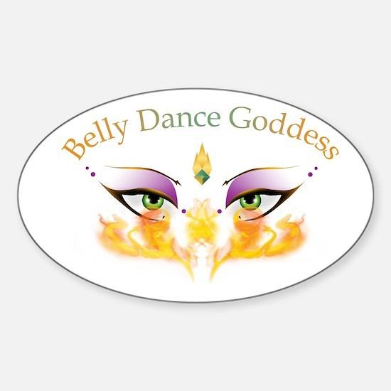 Belly Dance Shimmy Chic Sticker (Oval)