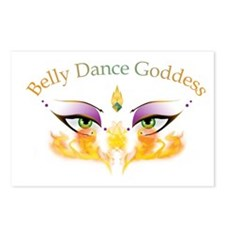 Belly Dance Shimmy Chic Postcards (Package of 8)