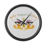 Belly Dance Shimmy Chic Large Wall Clock
