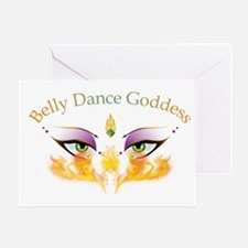 Belly Dance Shimmy Chic Greeting Card
