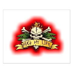 Fuck My Life Skull Posters