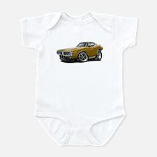1973-74 Charger Gold Car Infant Bodysuit