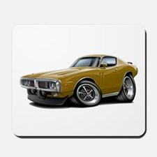 1973-74 Charger Gold Car Mousepad