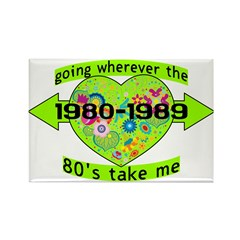 Going With The 80's Rectangle Magnet (100 pack)
