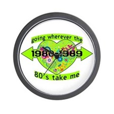 Going With The 80's Wall Clock