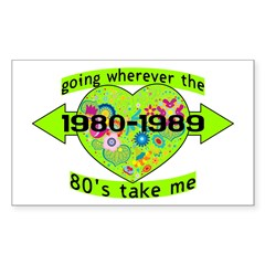Going With The 80's Decal