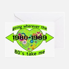 Going With The 80's Greeting Card