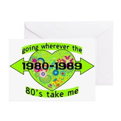 Going With The 80's Greeting Cards (Pk of 10)