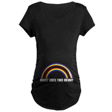 WHAT DOES THIS MEAN? Maternity Dark T-Shirt
