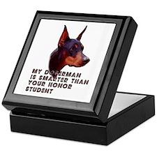 Smart Doberman Keepsake Box