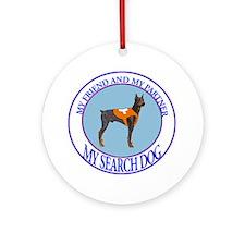 Doberman search dog Ornament (Round)
