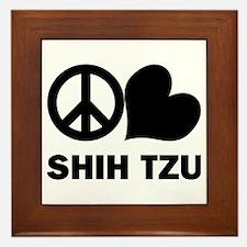 Peace Love Shih Tzu Framed Tile