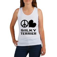 Peace Love Silky Terrier Women's Tank Top
