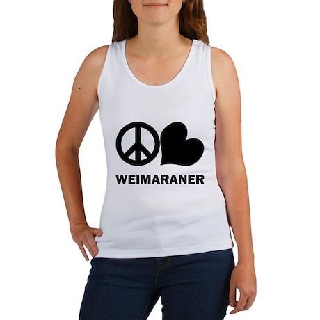 Peace Love Weimaraner Women's Tank Top