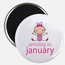 Stick Figure Baby January Due Date Magnet
