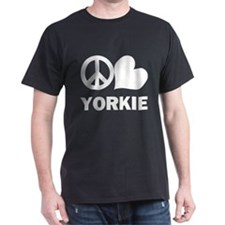 Peace Love Yorkie T-Shirt