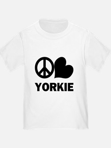 Peace Love Yorkie T