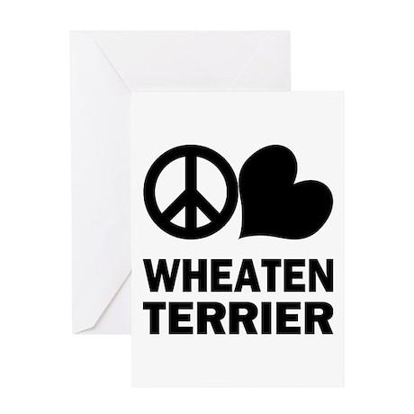 Peace Love Wheaten Terrier Greeting Card