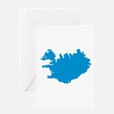 Iceland map Greeting Card