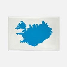 Iceland map Rectangle Magnet (10 pack)