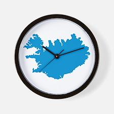 Iceland map Wall Clock