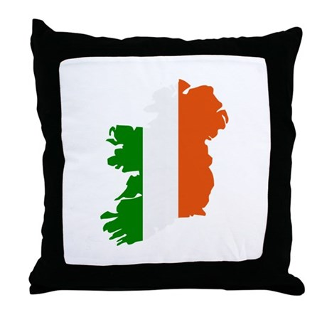 Ireland Map Throw Pillow By Styleking
