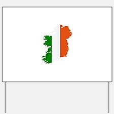 Ireland map Yard Sign