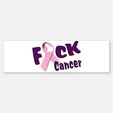 F*** Breast Cancer Bumper Bumper Sticker