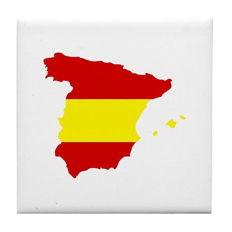 Spain map Tile Coaster