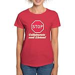 STOP! Women's Dark T-Shirt