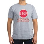STOP! Men's Fitted T-Shirt (dark)