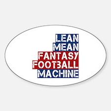 Fantasy Football Machine Decal