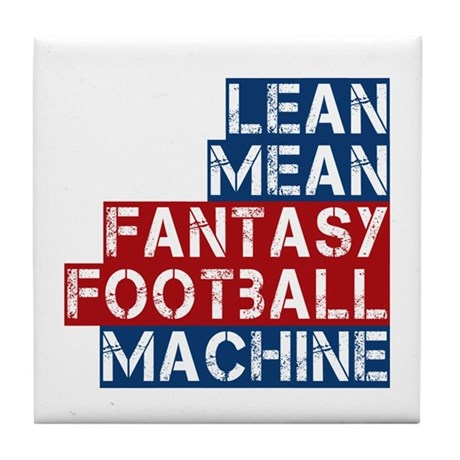 Fantasy Football Machine Tile Coaster