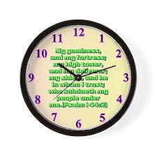 Psalm 144:2 Wall Clock