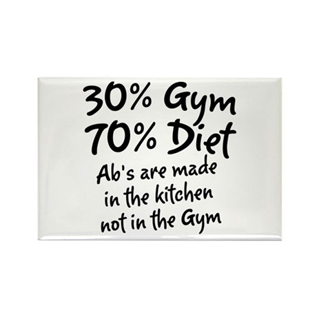 30% Gym Rectangle Magnet