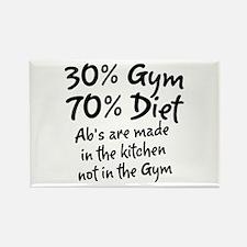 30% Gym Rectangle Magnet