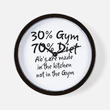 30% Gym Wall Clock