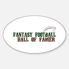 Fantasy Football Hall of Famer Decal