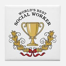 World's Best Social Worker Tile Coaster