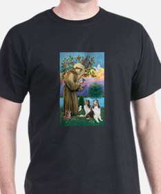 St. Francis (V-W)-Two Shelties T-Shirt