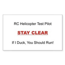 RC Heli Test Pilot Decal