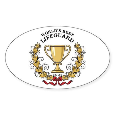 World's Best Lifeguard Sticker (Oval)