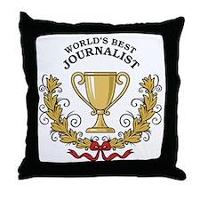 World's Best Journalist Throw Pillow