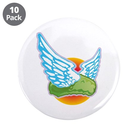 """The Flying Pickle 3.5"""" Button (10 pack)"""