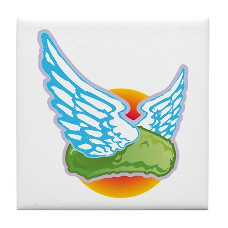 The Flying Pickle Tile Coaster