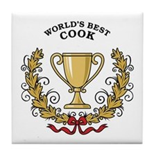 World's Best Cook Tile Coaster